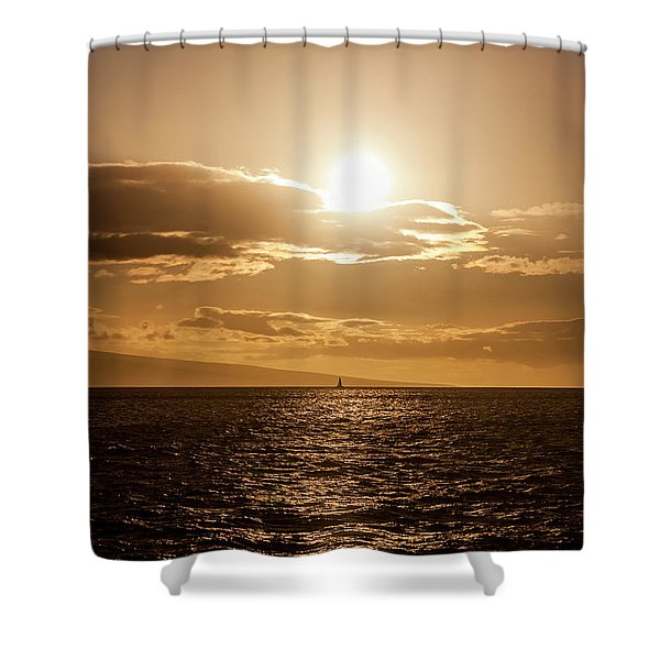 Sunset Sailboat Shower Curtain