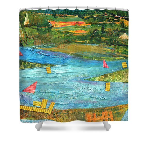 Sunset Sails 2 Shower Curtain