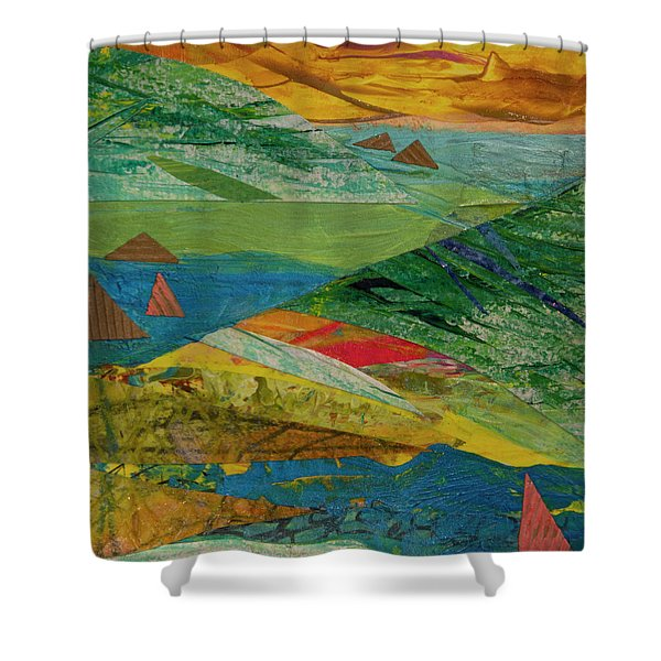 Sunset Sails 3 Shower Curtain