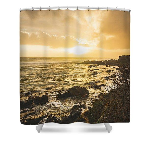 Sunset Seascape Shower Curtain