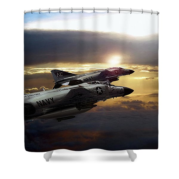 Sunset Section Shower Curtain