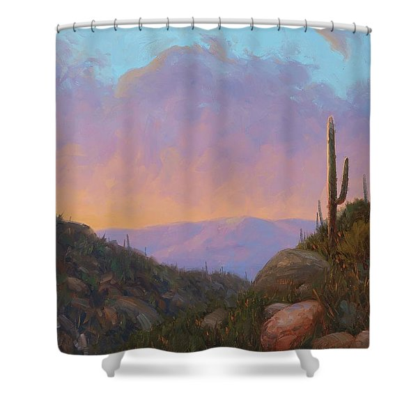 Sunset Sentinels 2 Shower Curtain