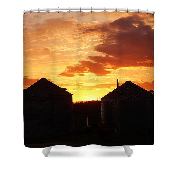 Sunset Silos Shower Curtain