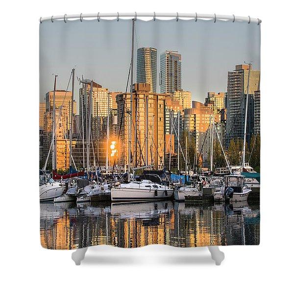 Sunset Skyline Shower Curtain