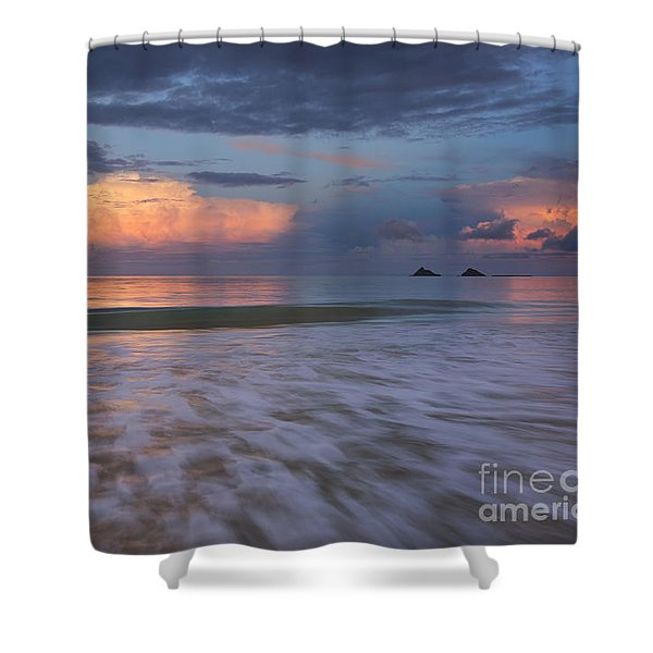 Sunset Storm Clouds Over Kailua Beach Shower Curtain