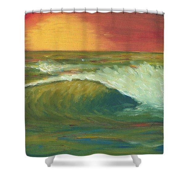 Sunset Surf Shower Curtain