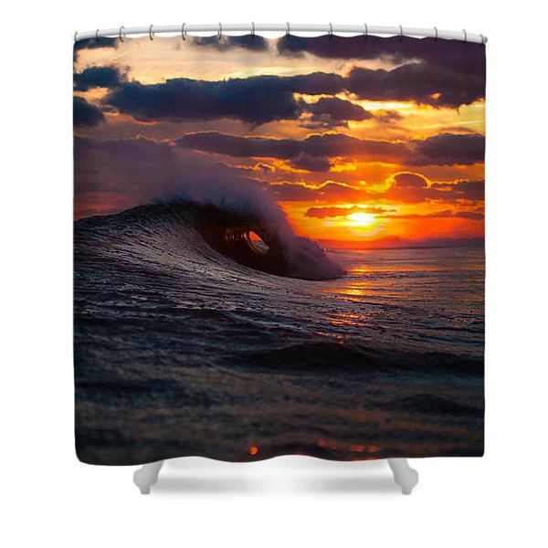 Sunset Surf Sesh Shower Curtain