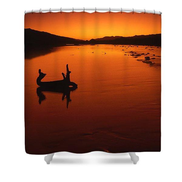 Sunset, The Wairau Valley Marlborough New Zealand Shower Curtain