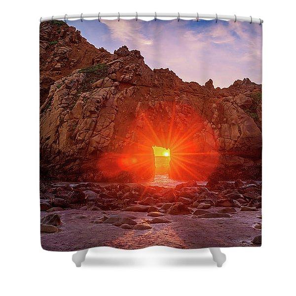 Sunset Through  Shower Curtain