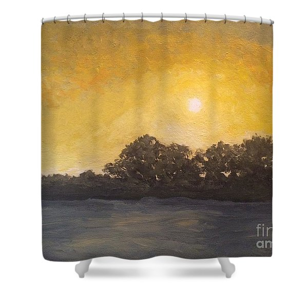 Sunset Through The Fog Shower Curtain
