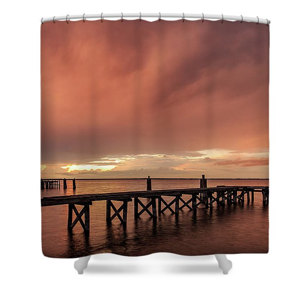Sunset Thru Storm Clouds Shower Curtain