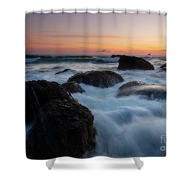 Sunset Tidal Surge Shower Curtain