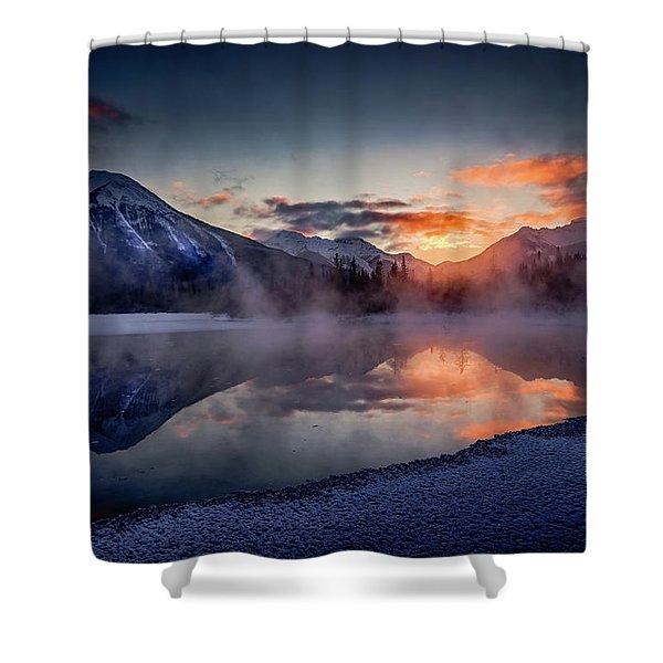 Sunset, Vermilion Lakes Shower Curtain