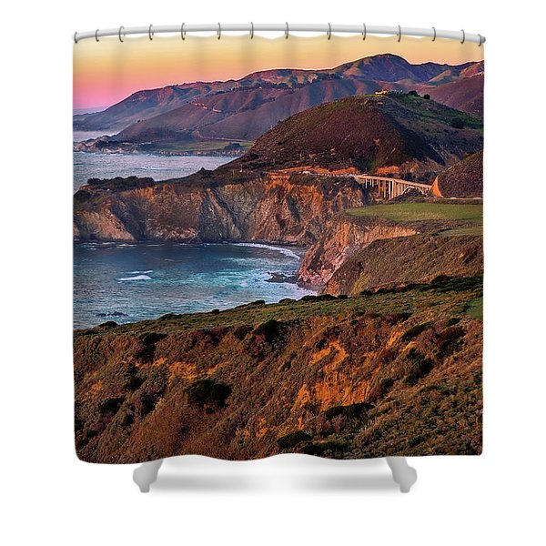 Sunset View From Hurricane Point Shower Curtain