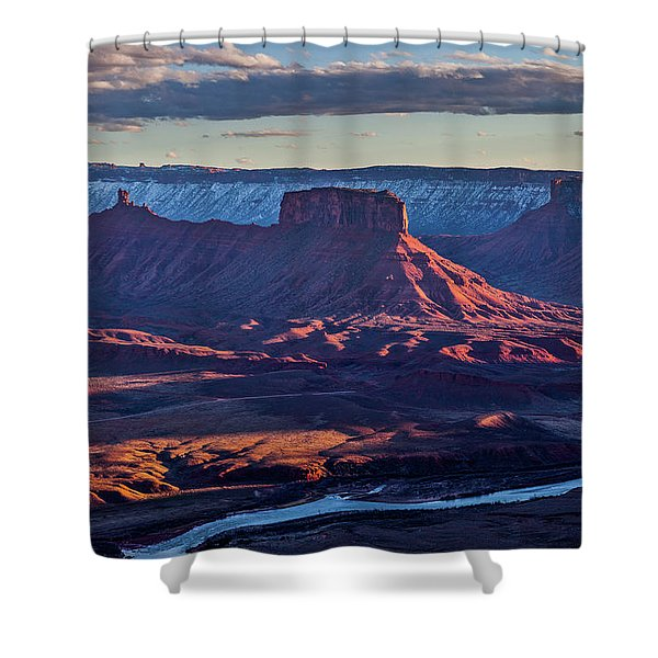 Sunset View From Omg Point Shower Curtain