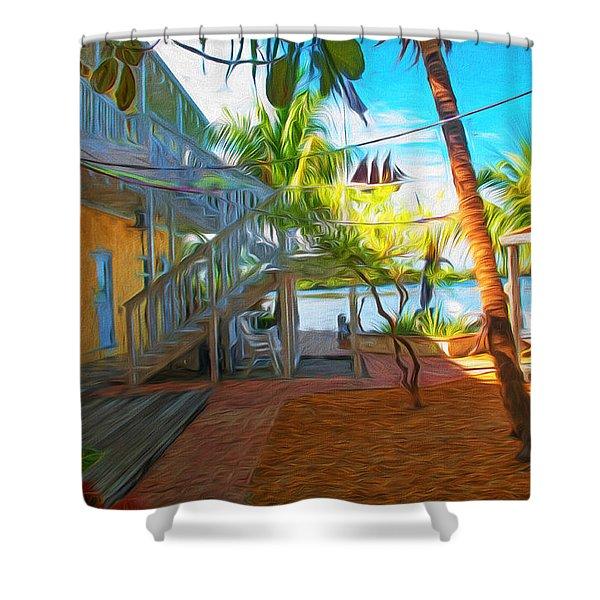 Sunset Villas Patio Shower Curtain