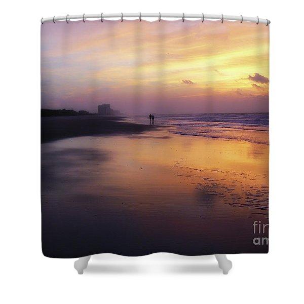 Sunset Walk On Myrtle Beach Shower Curtain