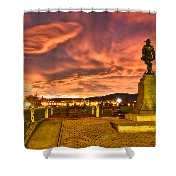 Sunset's Veil Shower Curtain
