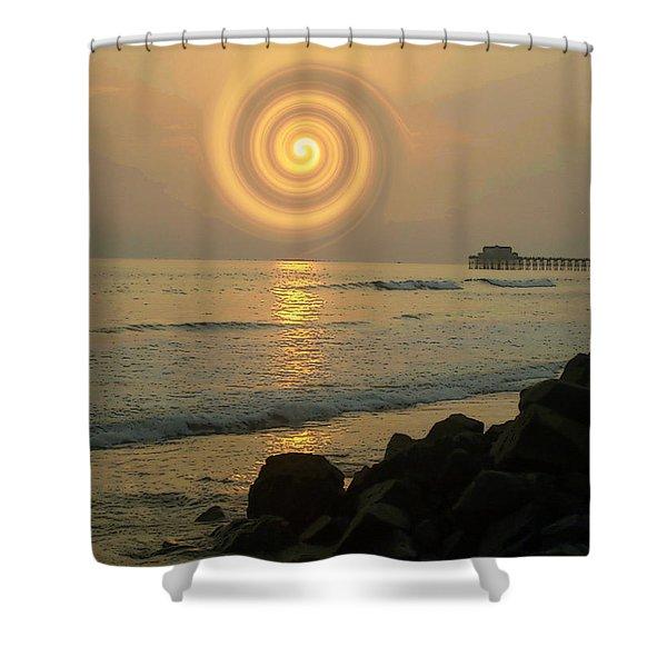 Sunsetswirl Shower Curtain