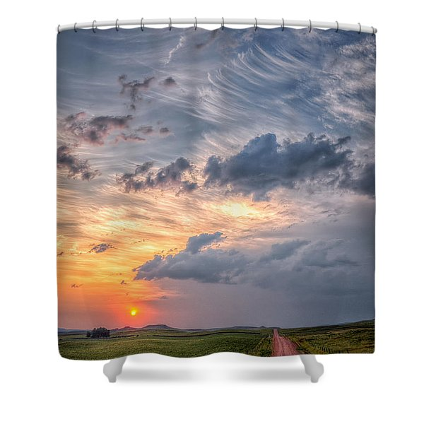 Sunshine And Storm Clouds Shower Curtain
