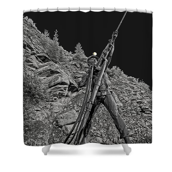 Sunshine Mine Fire Monument - Idaho State Shower Curtain