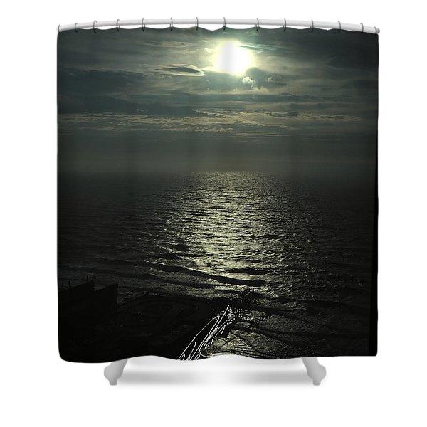 Sunshine Over Central Pier, Atlantic City, Nj Shower Curtain