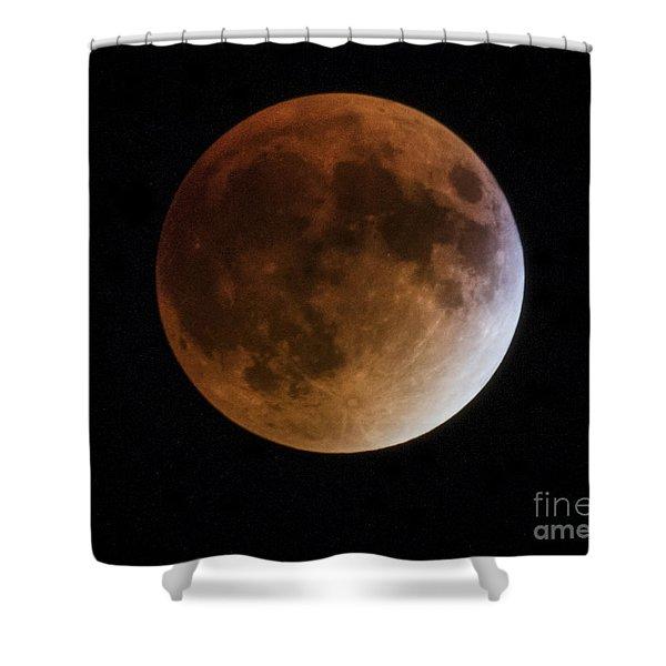 Super Blood Moon Lunar Eclipses Shower Curtain
