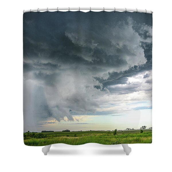 Super Cell Over Otter Tail County Shower Curtain