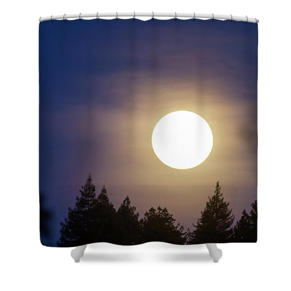 Super Full Moon Shower Curtain