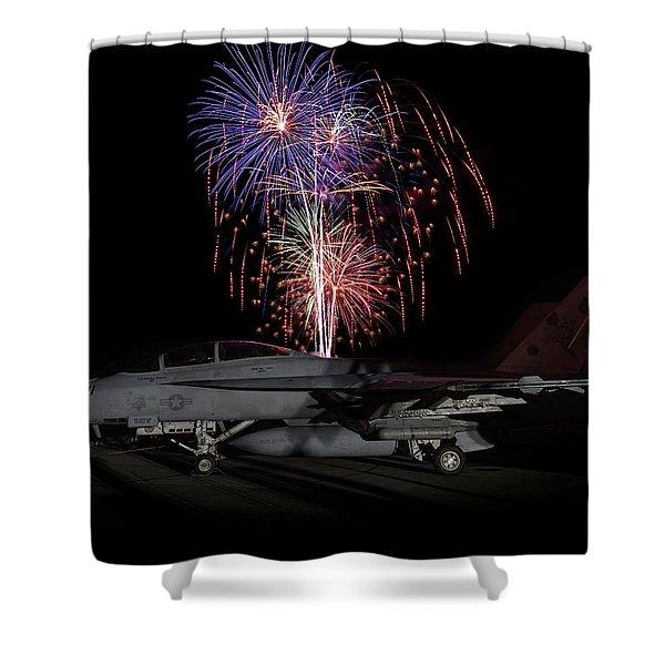 Super Hornet Celebration Shower Curtain