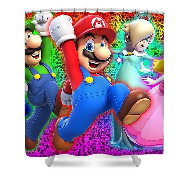 Super Mario 3d World Shower Curtain