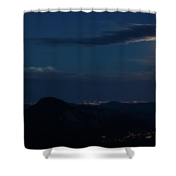 Super Moon Eclipse Shower Curtain