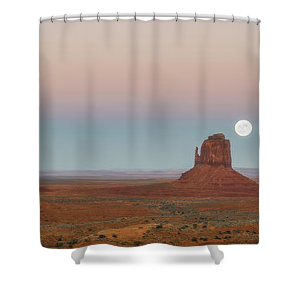 Super Moon In Monument Valley Shower Curtain
