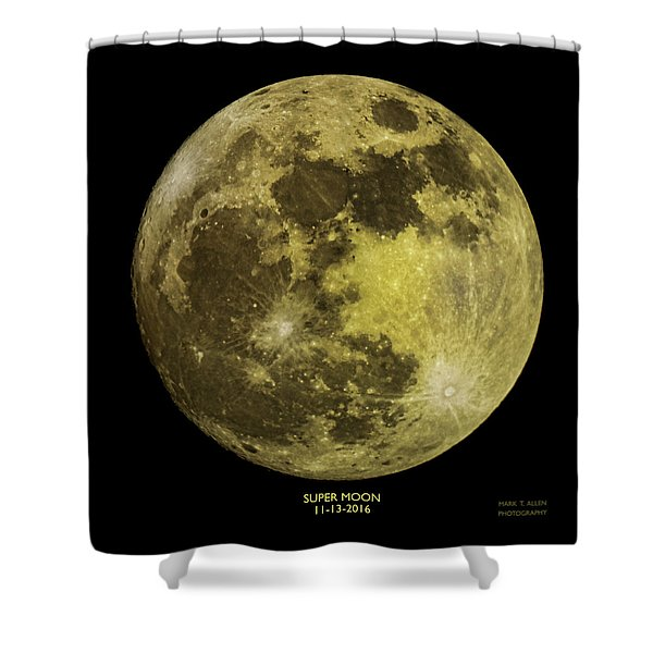 Super Moon Shower Curtain