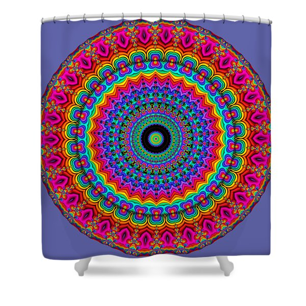 Super Rainbow Mandala Shower Curtain