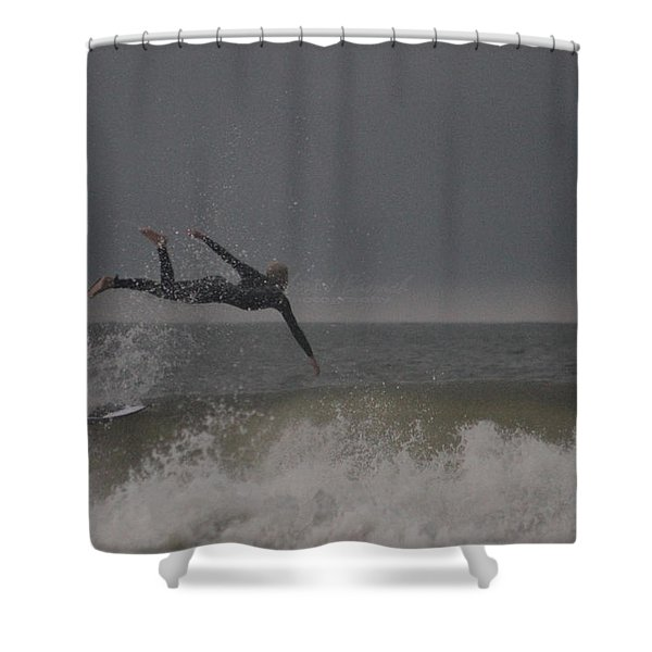 Super Surfing Shower Curtain