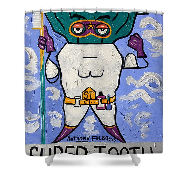Super Tooth Shower Curtain