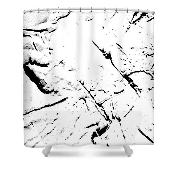 Super White Noise Shower Curtain