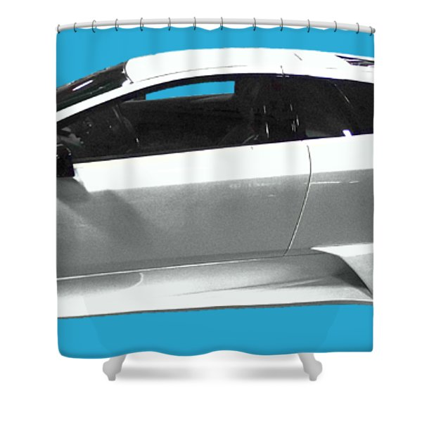 Supercar In White Art Shower Curtain