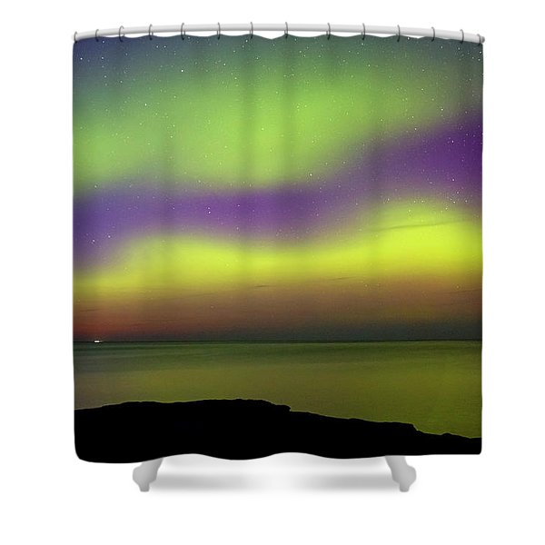 Shower Curtain featuring the photograph Superior Aurora by Heather Kenward