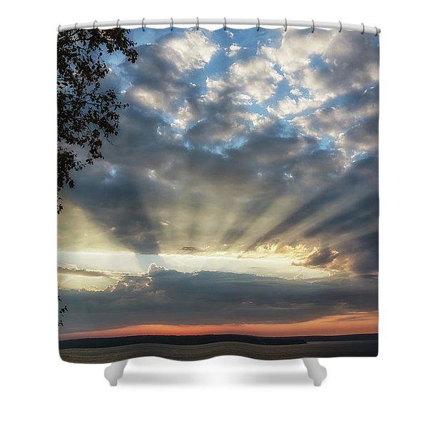 Shower Curtain featuring the photograph Superior Rays by Heather Kenward