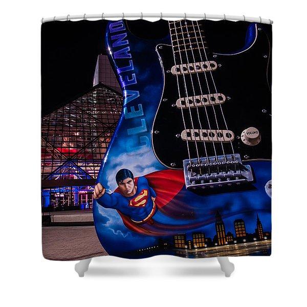 Superman Rocks Shower Curtain