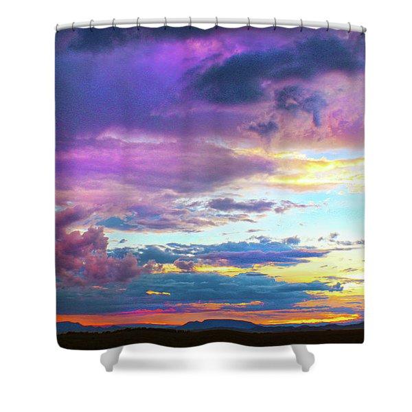 Supernatural Sky - Colorado Shower Curtain