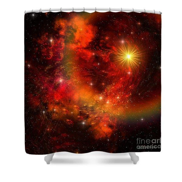 Supernova Shower Curtain