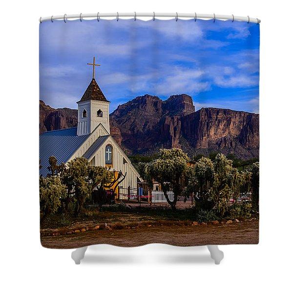 Superstition Church Shower Curtain