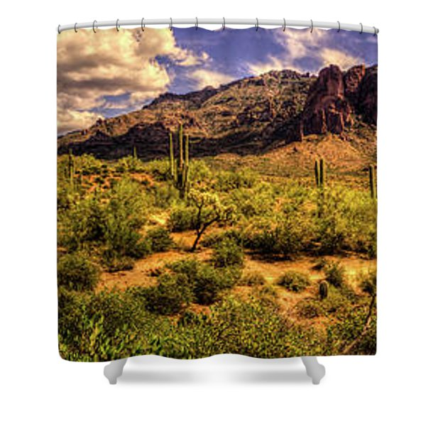 Superstition Mountain And Wilderness Shower Curtain