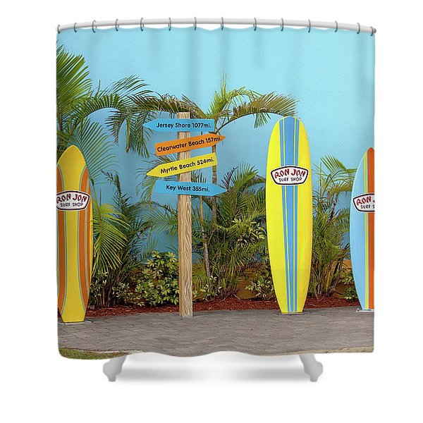 Surf Boards At Ron Jon's Shower Curtain