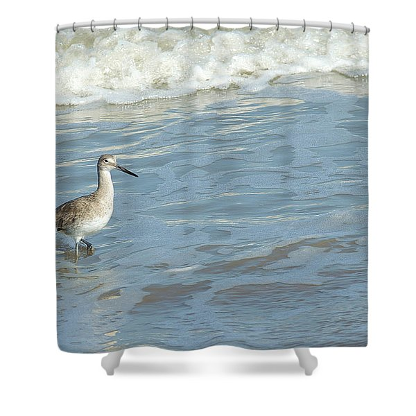 Surf Walker Shower Curtain