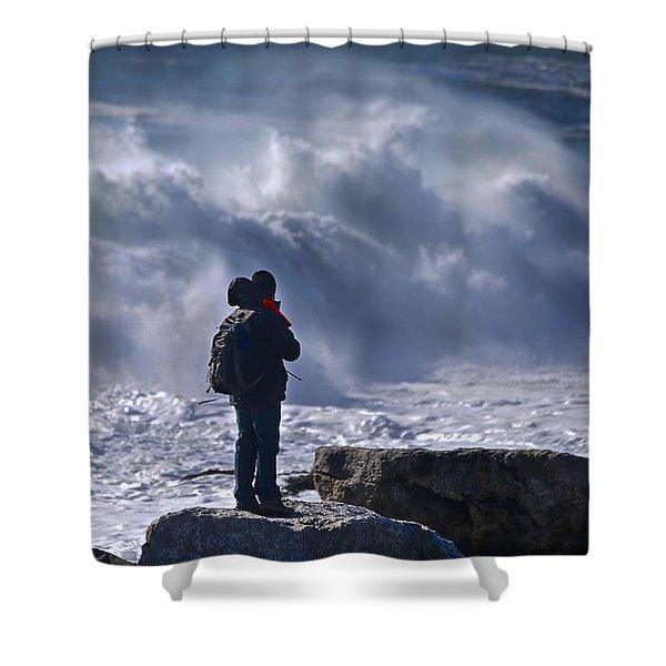 Surf Watcher Shower Curtain