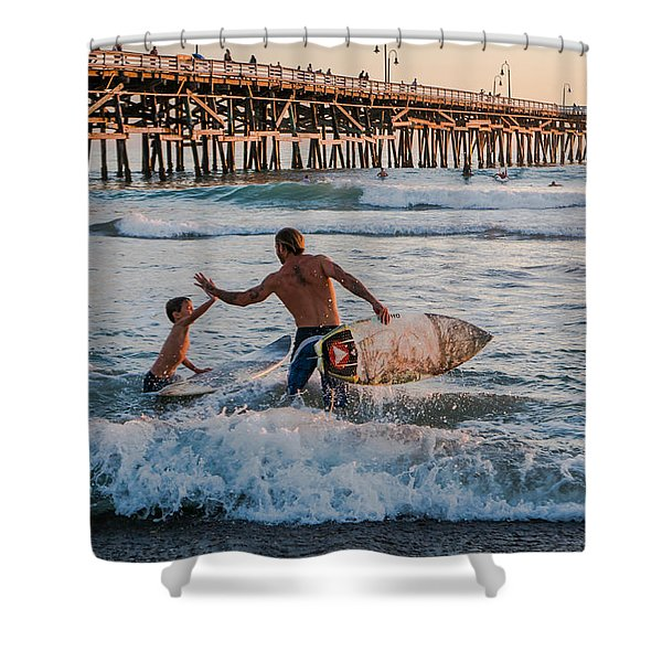Surfboard Inspirational Shower Curtain